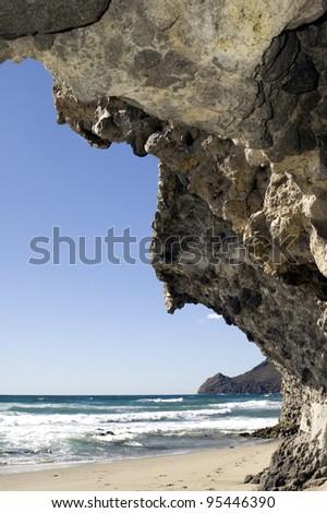 Playa de Monsul - stock photo