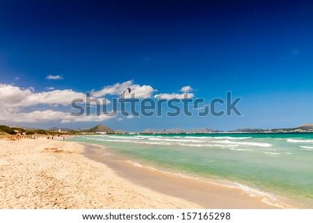 Playa de Muro Beach, Mallorca, Balearic Islands, Spain - stock photo