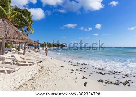Playa del Carmen, Mexico - stock photo