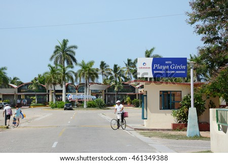 PLAYA GIRON, CUBA - JULY 24, 2016: Bay of Pigs Hotel. Playa Giron is a favorite destination for scuba divers and snorkelers.