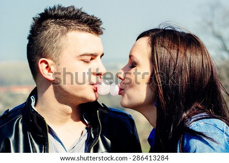 Playful couple  - stock photo