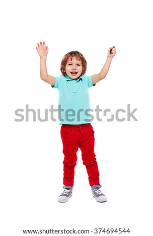 Playful youngster - stock photo