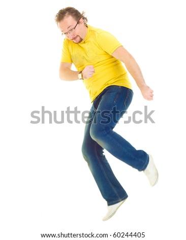 Playfully Happy Teenager - stock photo