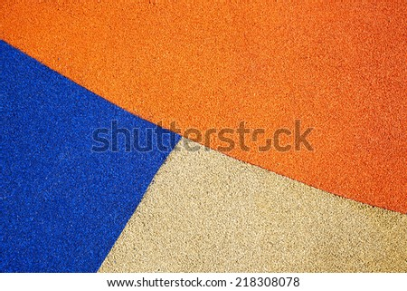 Playground floor - stock photo