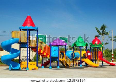 Playground for children - stock photo