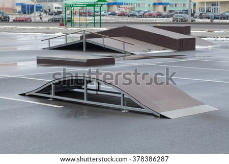 playground for practicing skateboarding