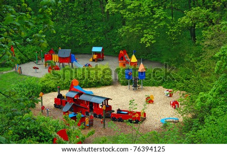 playground in a park - stock photo