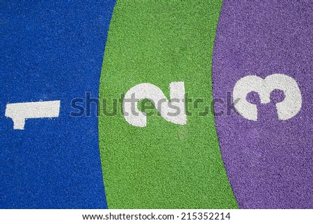 Playground numbers  - stock photo