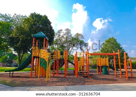 playground toy set - stock photo