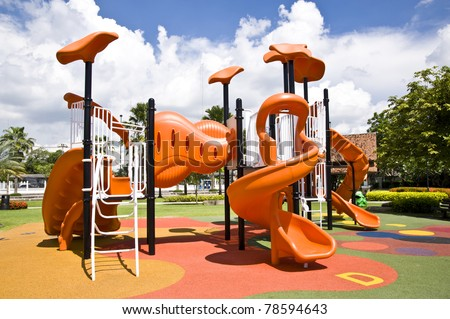playgrounds and nice blue sky