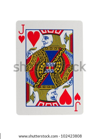 Playing card (jack) isolated on a white background - stock photo