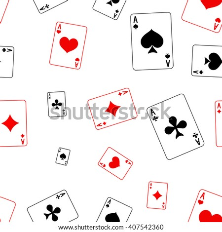 Playing card Seamless pattern. . Raster version