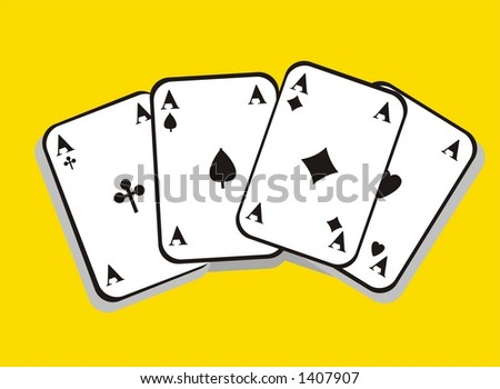 playing cards aces