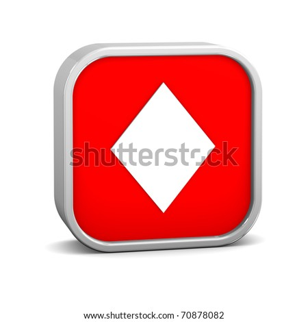 Playing cards diamonds on a white background. Part of a series. - stock photo