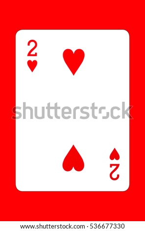 Playing cards isolated on red background