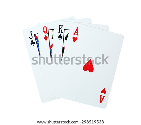 playing cards poker  - stock photo
