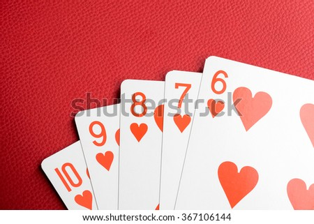 Playing cards with numbers - stock photo