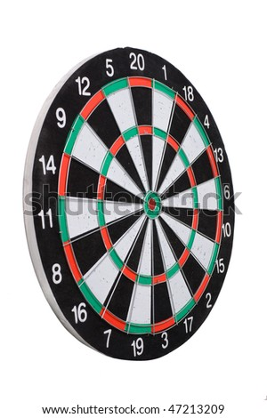 playing darts isolated on white