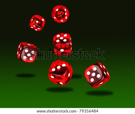 Playing dices - stock photo