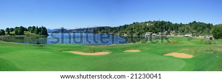playing golf - stock photo