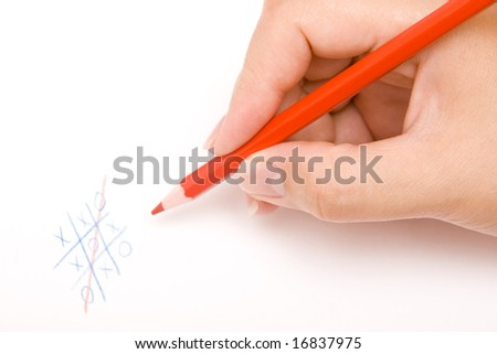 playing ouths and crosses - stock photo