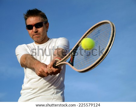 Playing tennis          - stock photo