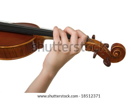 Playing violin - stock photo