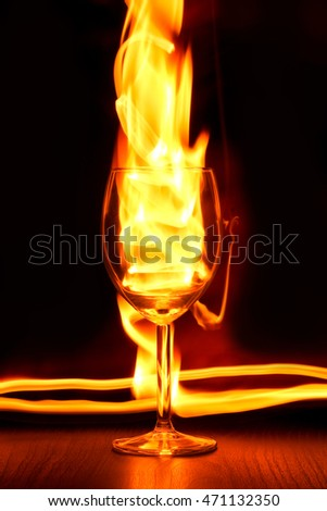 Playing with the fire traces around the glass