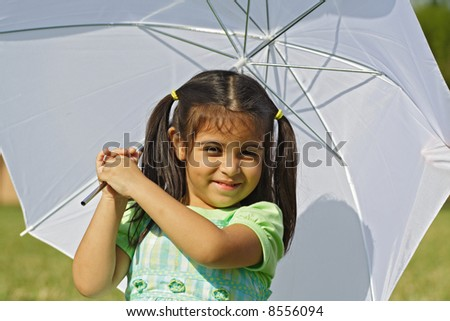 Playing with the Umbrella - stock photo