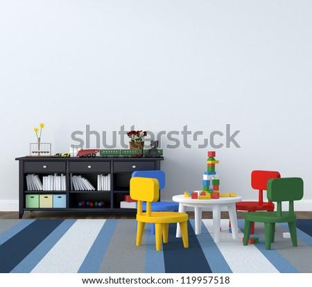 playroom - stock photo