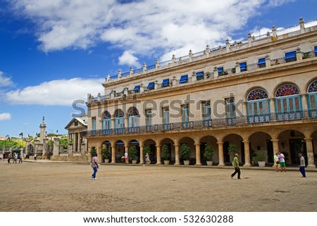 plaza de armas, historic square in havana, cuba