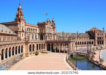 Plaza de Espana in Sevilla, Spain - stock photo