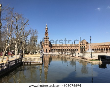 Plaza de Espana in Seville Spain
