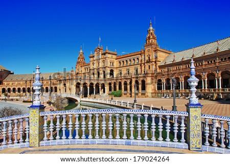 Plaza de Espana, Sevilla, Spain  - stock photo