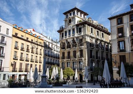 Plaza de Ramales, Madrid, Spain - stock photo