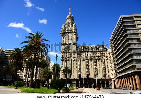 Plaza Independencia in Montevideo - stock photo