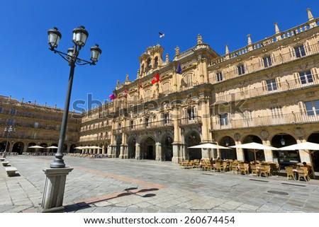 Plaza Mayor de Salamanca (Salamanca Major Square), Salamanca, Spain - stock photo