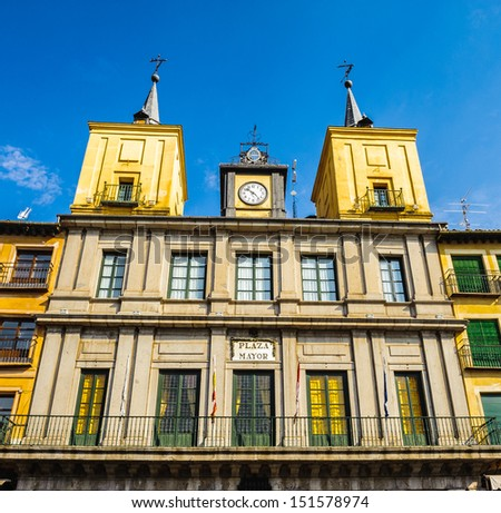 Plaza Mayor de Segovia, Spain - stock photo