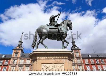 Plaza Mayor - Madrid - stock photo