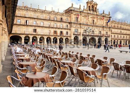 Plaza Mayor, Salamanca, Spain - stock photo