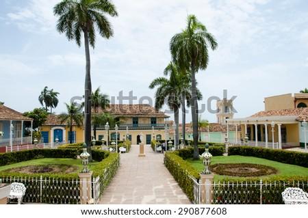 Plaza Mayor - Trinidad - Cuba - stock photo