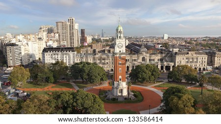 Plaza Monumental in Buenos Aires, Argentina - stock photo