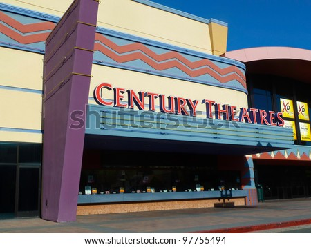PLEASANT HILL, APRIL 10: Century Theatres are a chain of movie theaters which operate in the western United States. In 2006 it was acquired by Cinemark Theaters. April 10, 2011, Pleasant Hill, CA. - stock photo