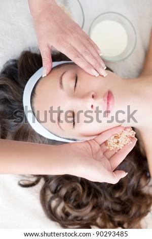 Pleasant spa procedure - stock photo