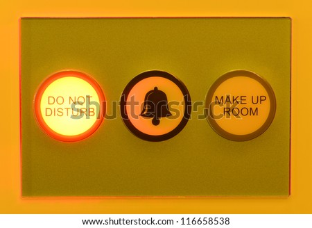 Please do not disturb electronic sign light. - stock photo