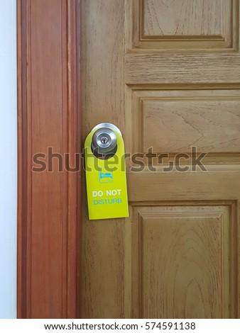 please lock door. Please Do Not Disturb Tagging In The Hotel. Sign Front Of Door Lock