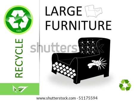 Please recycle large furniture - stock photo