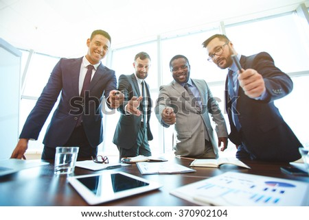 Please sign - stock photo
