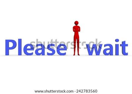 please wait - stock photo