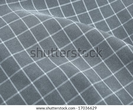 Pleated checkered fabric closeup - series - grey. Good for background. More fabrics available in my port.